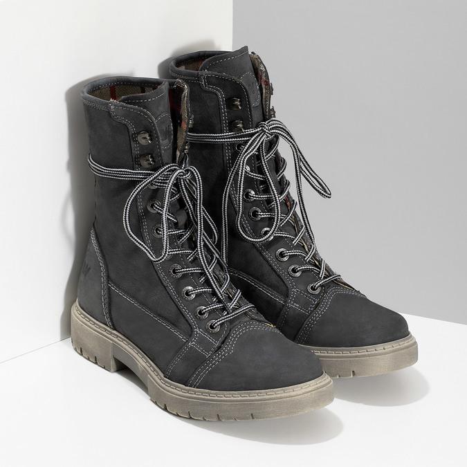 Kožená dámská vysoká obuv weinbrenner, šedá, 596-2746 - 26