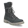 Kožená dámská vysoká obuv weinbrenner, šedá, 596-2746 - 13