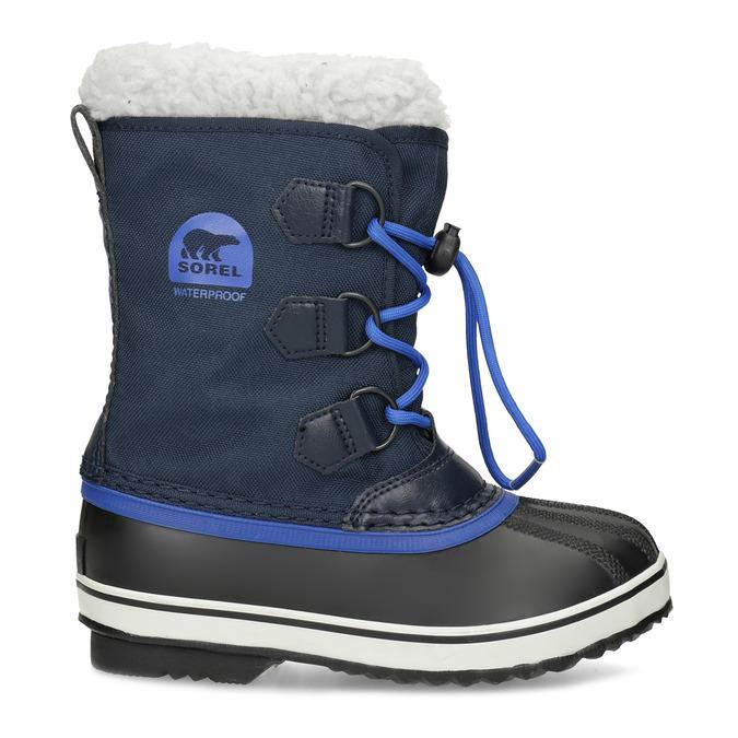 Modré dětské sněhule se zateplením sorel, modrá, 399-9043 - 19