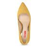 Žluté dámské lodičky na jehlovém podpatku bata-red-label, žlutá, 729-8637 - 17