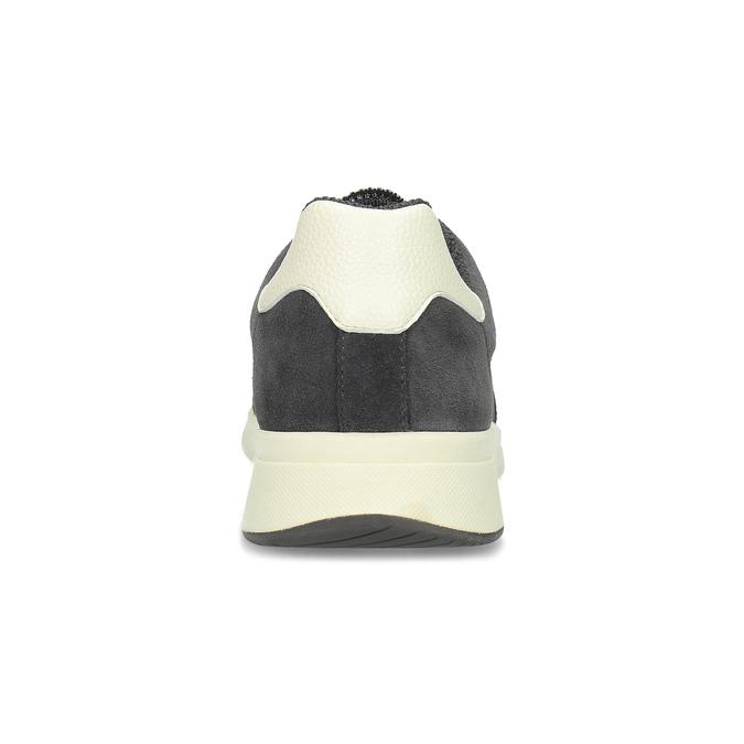 Šedé pánské tenisky s perforací bata-light, šedá, 849-2644 - 15