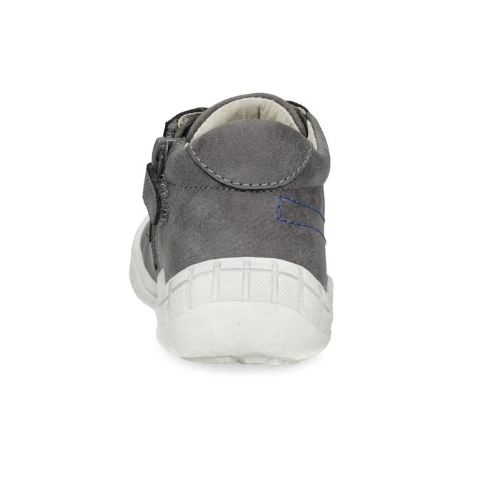Šedé dětské tenisky s modrými tkaničkami bubblegummers, šedá, 111-2631 - 15