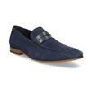 Modré mokasíny z broušené kůže bata, modrá, 813-9600 - 13
