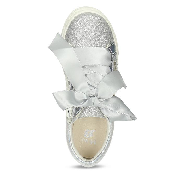 Stříbrné dívčí tenisky s mašlí mini-b, stříbrná, 321-2372 - 17