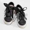 Dětské tenisky se stříbrnými detaily mini-b, černá, 321-6372 - 16