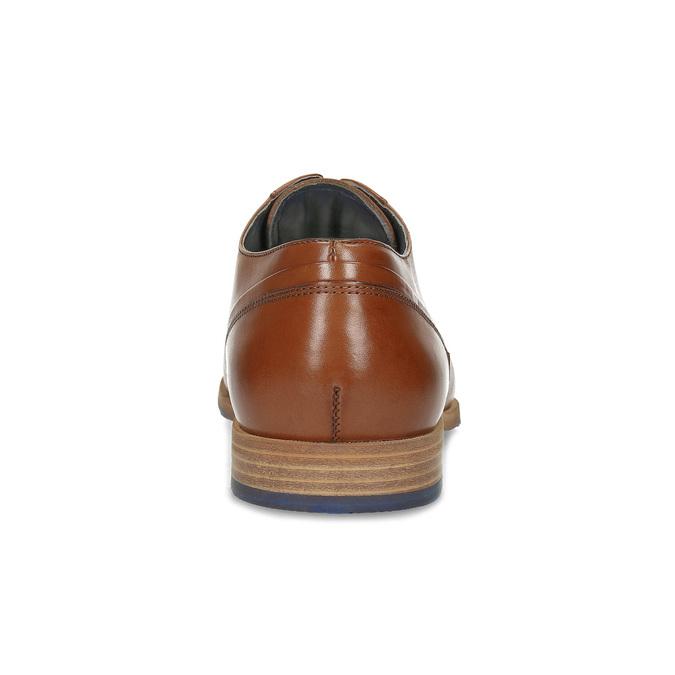 Hnědé kožené pánské polobotky bata, hnědá, 826-3615 - 15