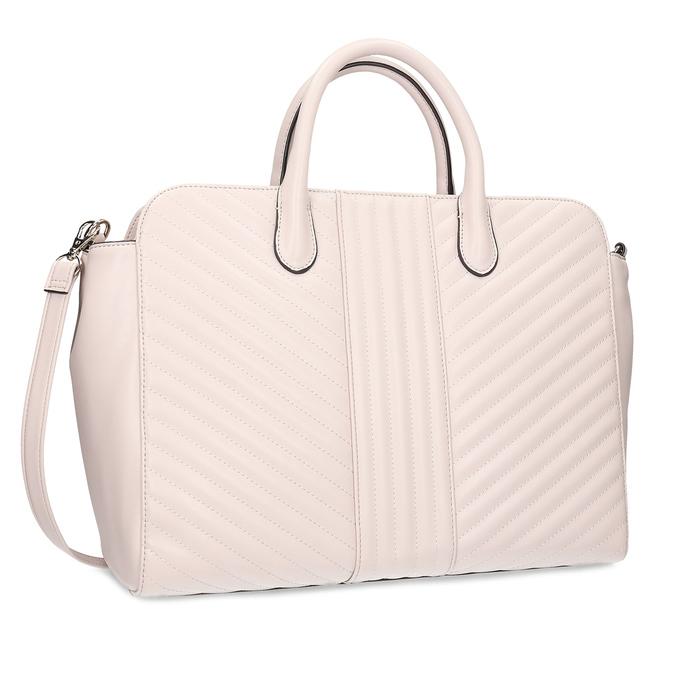 Růžová dámská kabelka s prošitím bata-red-label, růžová, 961-5950 - 13