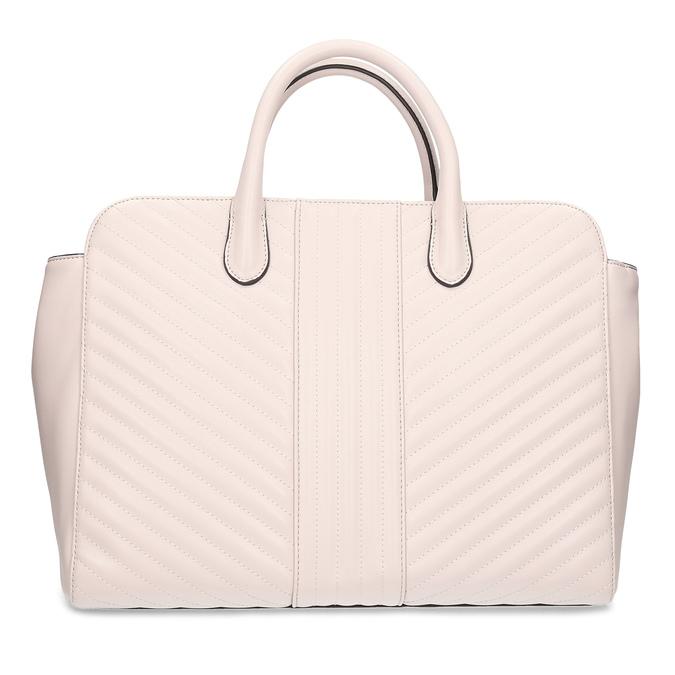 Růžová dámská kabelka s prošitím bata-red-label, růžová, 961-5950 - 26