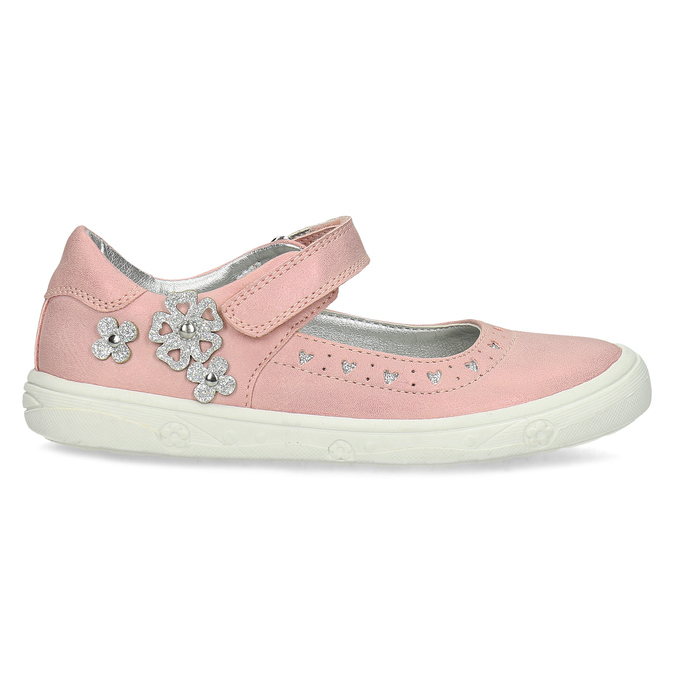 Dívčí růžové baleríny mini-b, růžová, 221-5216 - 19