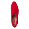 Červené dámské kotníčkové kozačky na podpatku bata-red-label, červená, 799-5646 - 17