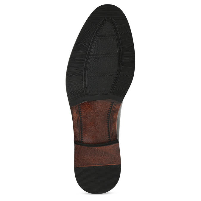 Pánské černé polobotky kožené s perforací bata, černá, 824-6722 - 18