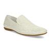 Bílé kožené pánské Loafers bata, bílá, 834-1627 - 13