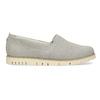 Kožená dámská Slip-on obuv s perforací flexible, šedá, 513-9609 - 19