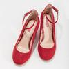 Červené dámské lodičky na stabilním podpatku bata-red-label, červená, 729-5635 - 16
