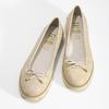 Béžové dámské kožené baleríny s perforací flexible, béžová, 524-8607 - 16