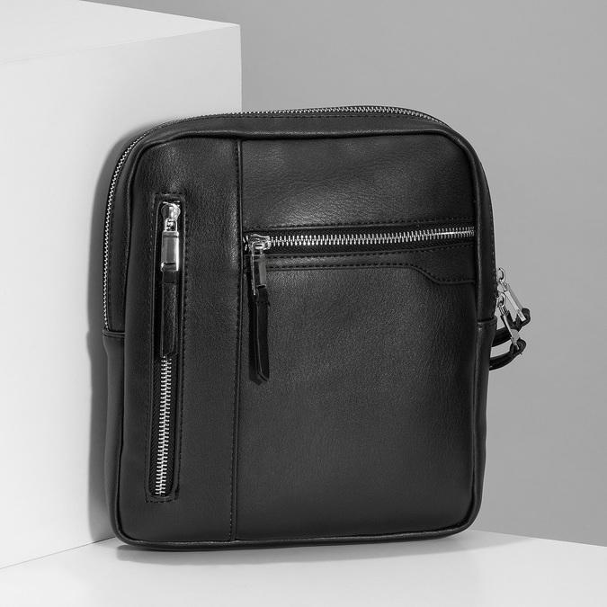 Černá pánská Crossbody taška bata, černá, 961-6966 - 17