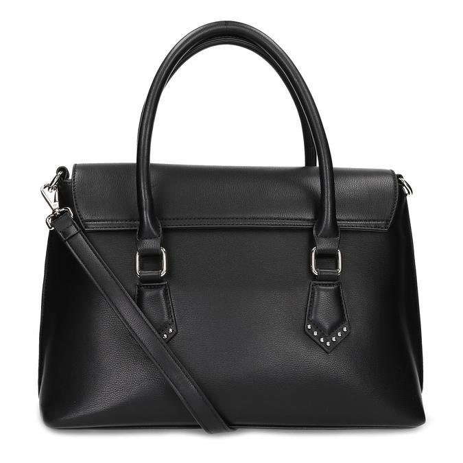Černá kabelka s kovovou sponou a cvoky bata, černá, 961-6963 - 16