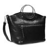 Dámská černá kabelka s kovovými uchy bata, černá, 961-6934 - 13