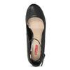 Černé dámské lodičky na stabilním podpatku bata-red-label, černá, 729-6635 - 17