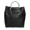 Černá kabelka se střapcem a kovovými uchy bata, černá, 961-6930 - 16