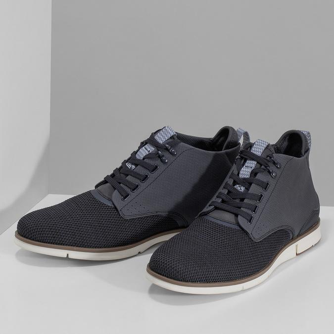 Tmavě modrá pánská kotníčková obuv bata-red-label, modrá, 821-9607 - 16