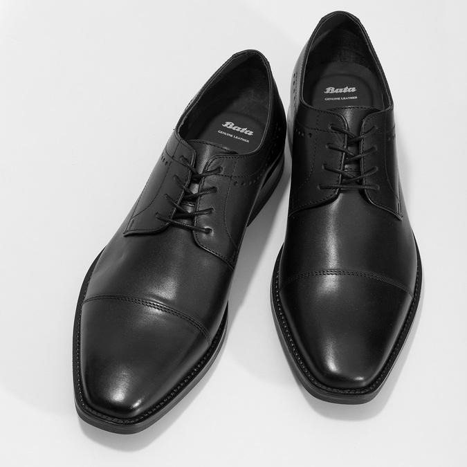 Černé pánské polobotky kožené bata, černá, 824-6860 - 16