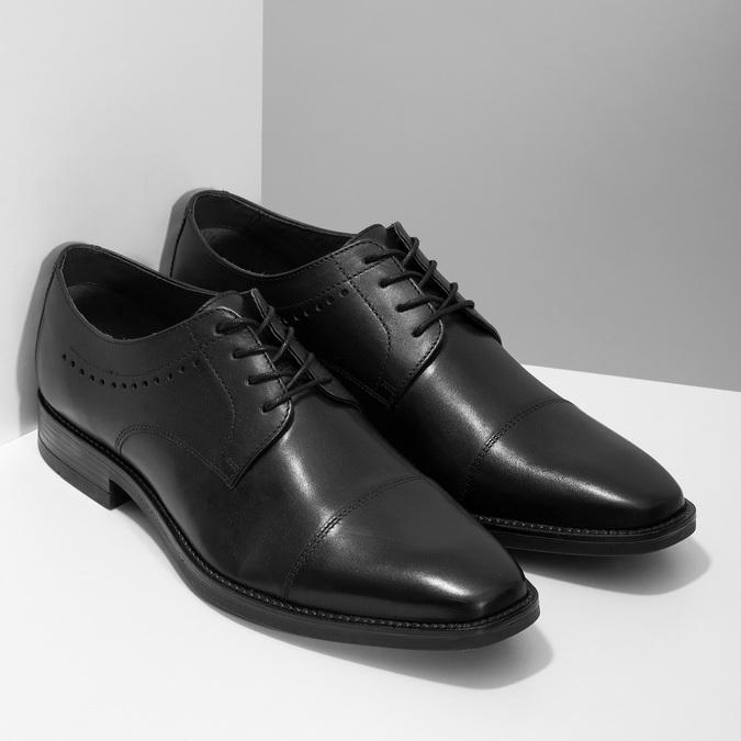 Černé pánské polobotky kožené bata, černá, 824-6860 - 26