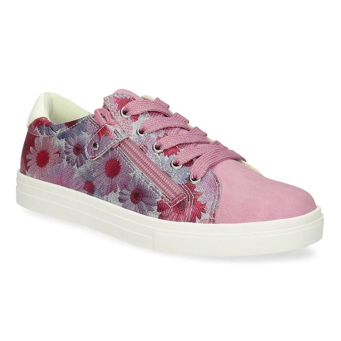 Růžové dětské tenisky s květinovým potiskem mini-b, růžová, 321-5635 - 13