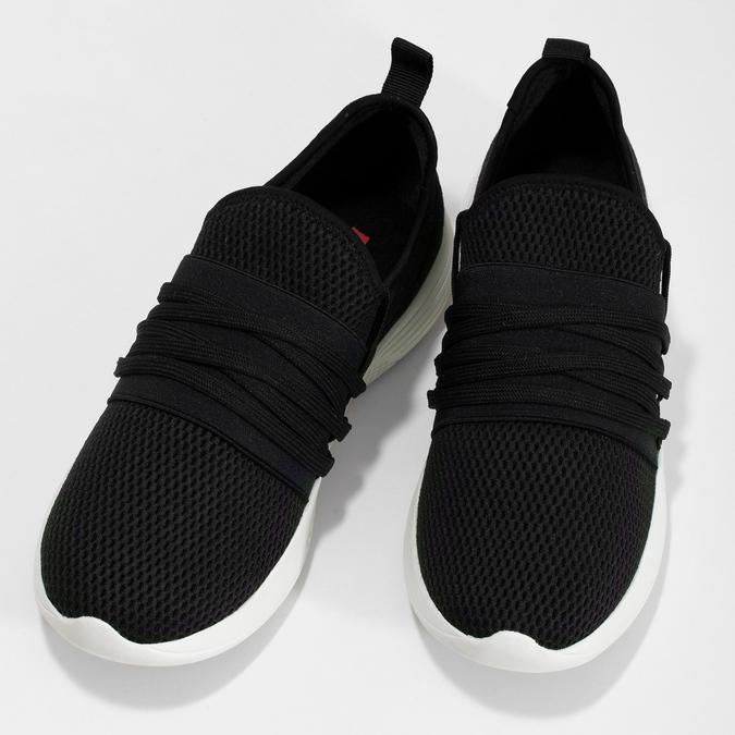 Dámské černé tenisky s elastickým pruhem bata-red-label, černá, 519-6607 - 16
