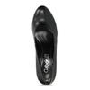 Černé dámské lodičky s kulatou špicí gabor, černá, 621-6657 - 17