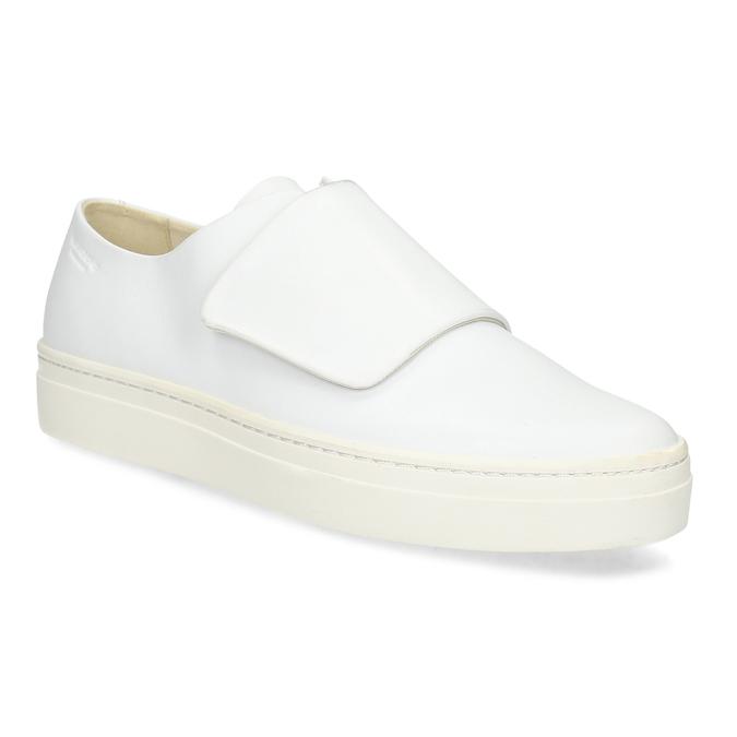 Vagabond Bílé kožené dámské tenisky se suchým zipem - Všechny boty ... 8400feecce