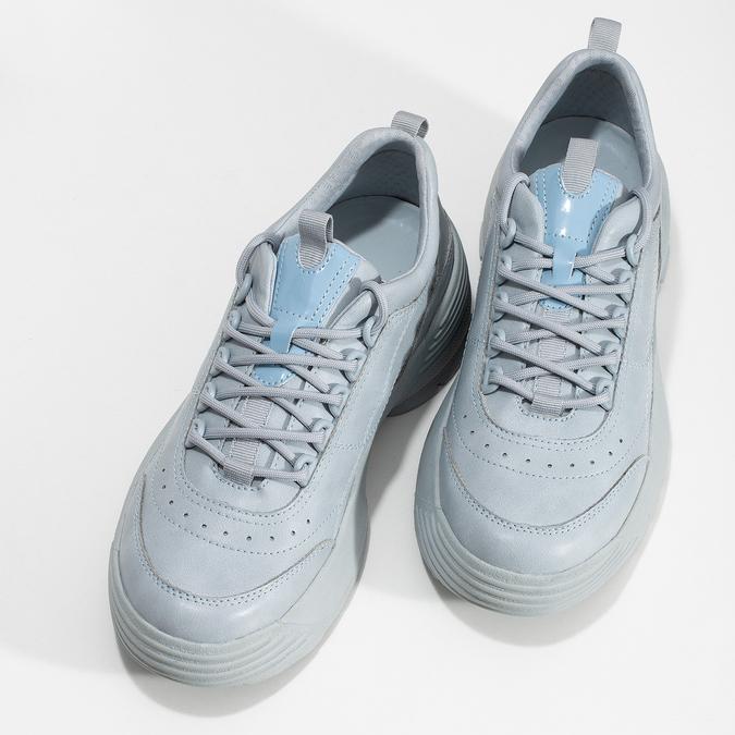 Dámské modré tenisky na flatformě bata, modrá, 541-9608 - 16