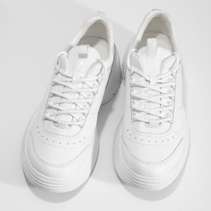 Bílé dámské tenisky na flatformě bata, bílá, 541-1608 - 16