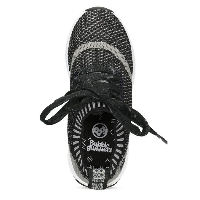 Dětské tenisky z úpletu černé bubblegummers, šedá, 319-2650 - 17
