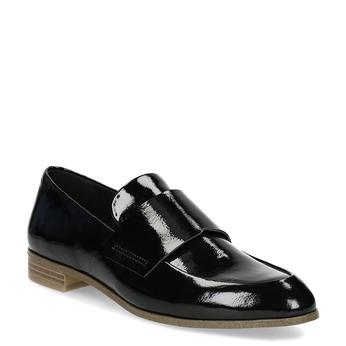 Dámské černé lakované mokasíny bata, černá, 511-6616 - 13