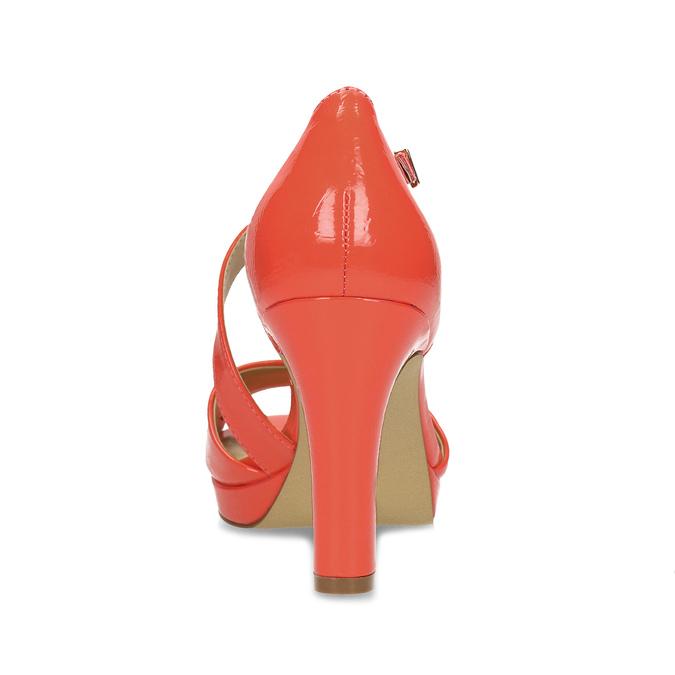 Korálové dámské sandály s asymetrickým páskem insolia, červená, 761-5600 - 15