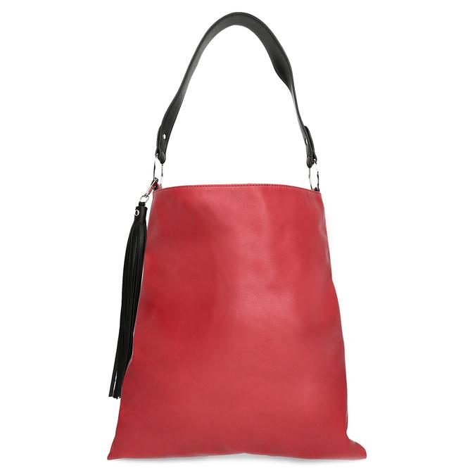 Červená Hobo kabelka s černými detaily bata, červená, 961-5935 - 26
