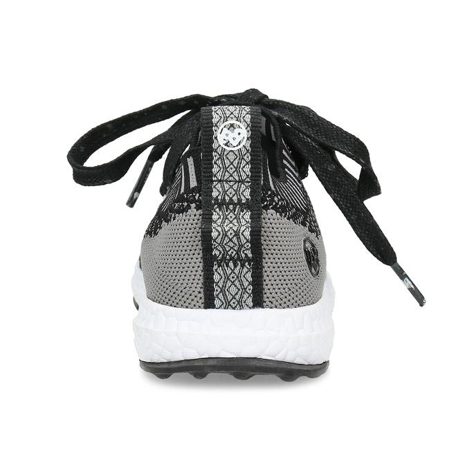 Dětské tenisky z úpletu černé bubblegummers, šedá, 319-2650 - 15