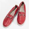 Dámské kožené mokasíny červené comfit, červená, 616-5617 - 16