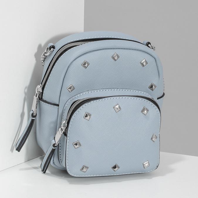 Modrá Crossbody kabelka s kovovými cvoky bata, modrá, 961-9965 - 17