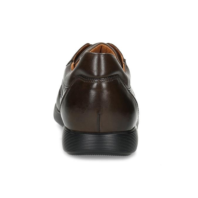 Kožené hnědé pánské tenisky bata, hnědá, 826-4686 - 15