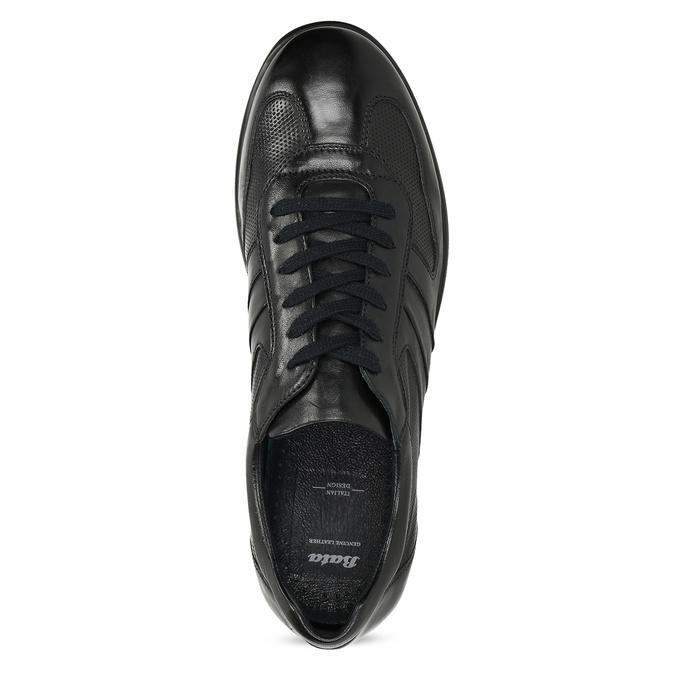 Pánské kožené černé tenisky bata, černá, 824-6686 - 17