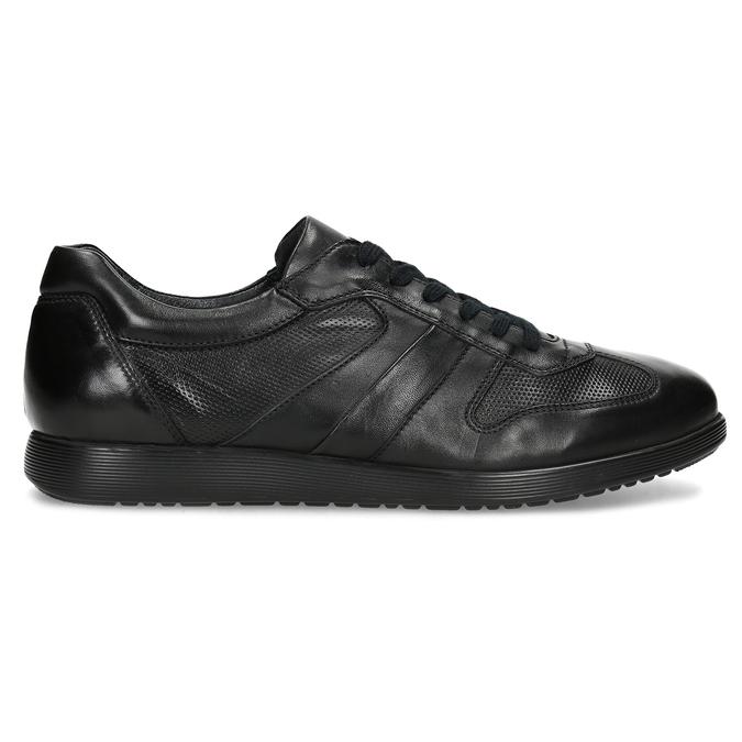 Pánské kožené černé tenisky bata, černá, 824-6686 - 19