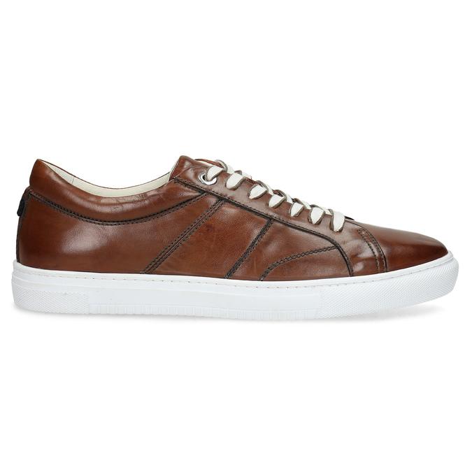 Kožené hnědé tenisky pánské bata, hnědá, 846-3649 - 19