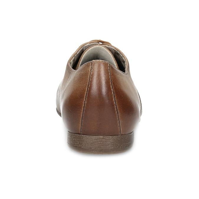 Dámské hnědé kožené polobotky bata, hnědá, 544-4603 - 15