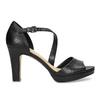 Kožené černé sandály s asymetrickým páskem insolia, černá, 764-6600 - 19