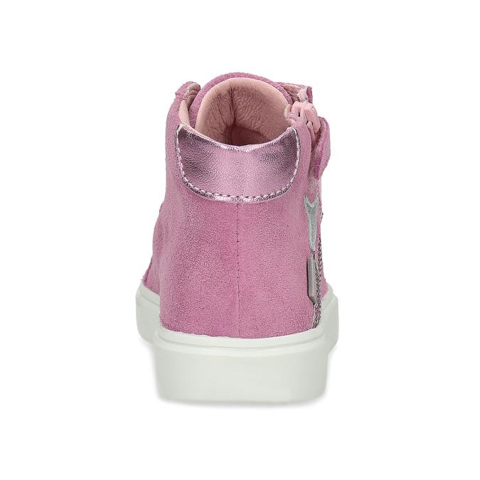 Kotníčkové růžové tenisky z broušené kůže richter, růžová, 323-5104 - 15