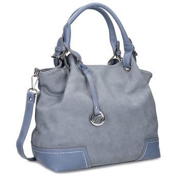 Světle modrá dámská kabelka gabor, modrá, 961-9017 - 13