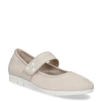 Kožené dámské baleríny béžové bata, béžová, 526-5667 - 13