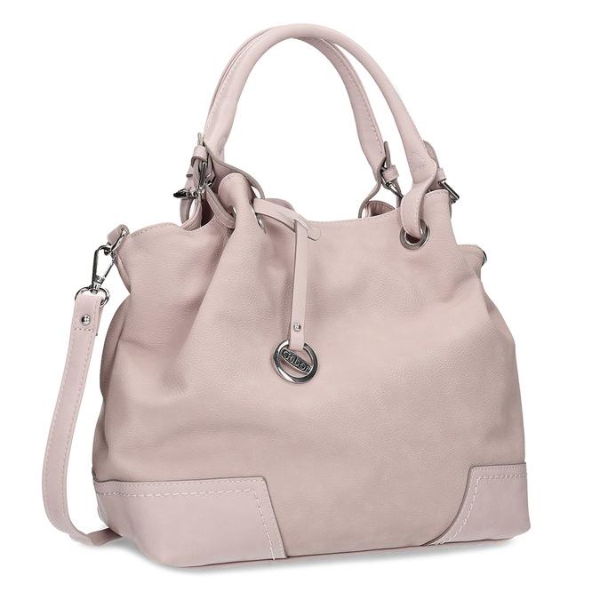 Růžová kabelka s přívěskem gabor, růžová, 961-5017 - 13